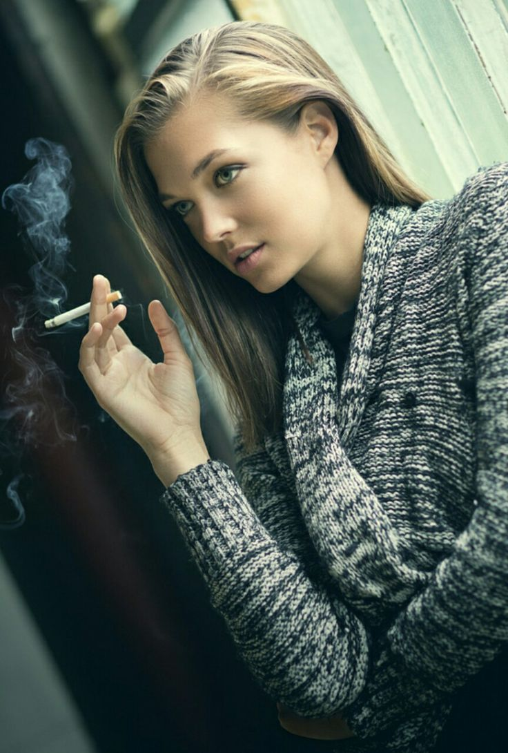 sexy girl smoking