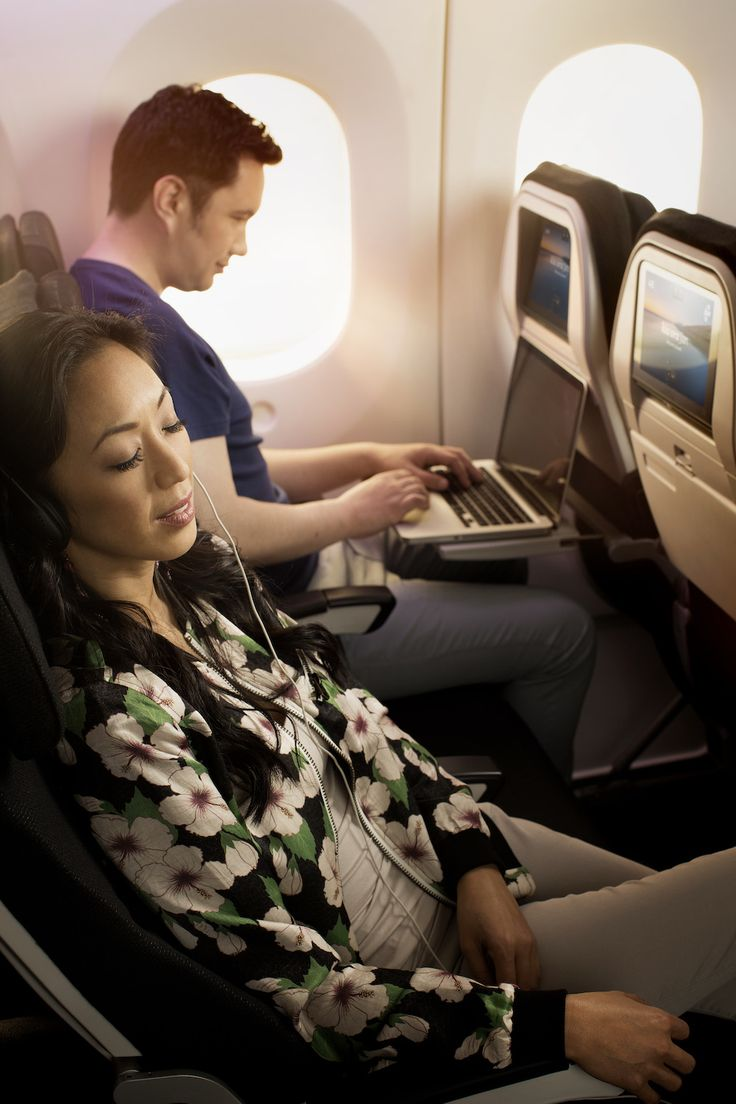 Boeing 787-9 Economy Reclined. For more information on Air New Zealand's new Boeing 787-9 visit http://www.airnewzealand.co.nz/futuretakingflight #AirNZ #787-9 #AirNewZealand #NewZealand