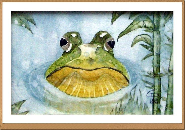 Rana - frog - Gianluigi Punzo - Naples - Napoli - Italy - Italia - Watercolor - Acquerello - Aquarelle - Acuarela