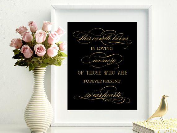 SALE 60% In Loving Memory Sign Printable. by PrintableEventsCo