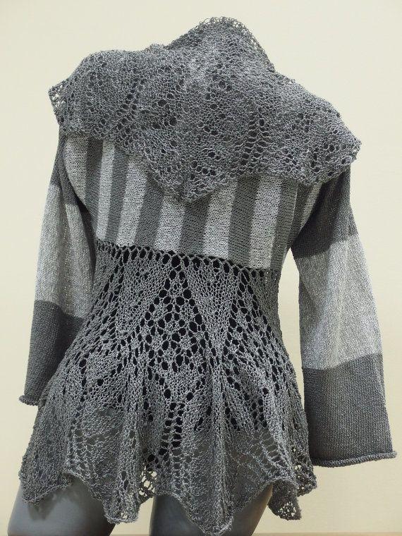 Long crochet women's cardigan Hand knit cardigan by CleopatraArt