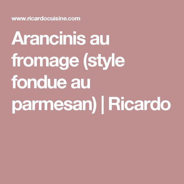 Arancinis au fromage (style fondue au parmesan) | Ricardo
