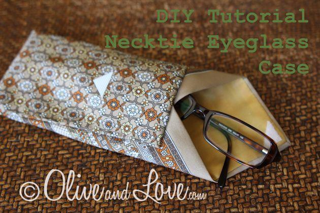 Necktie eyeglass case case