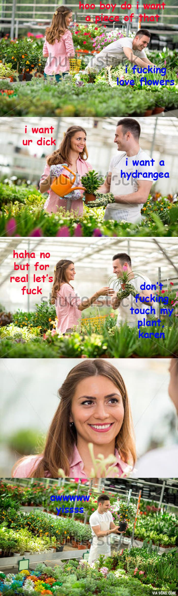 When you're a plant enthusiast but Karen is annoying as always.