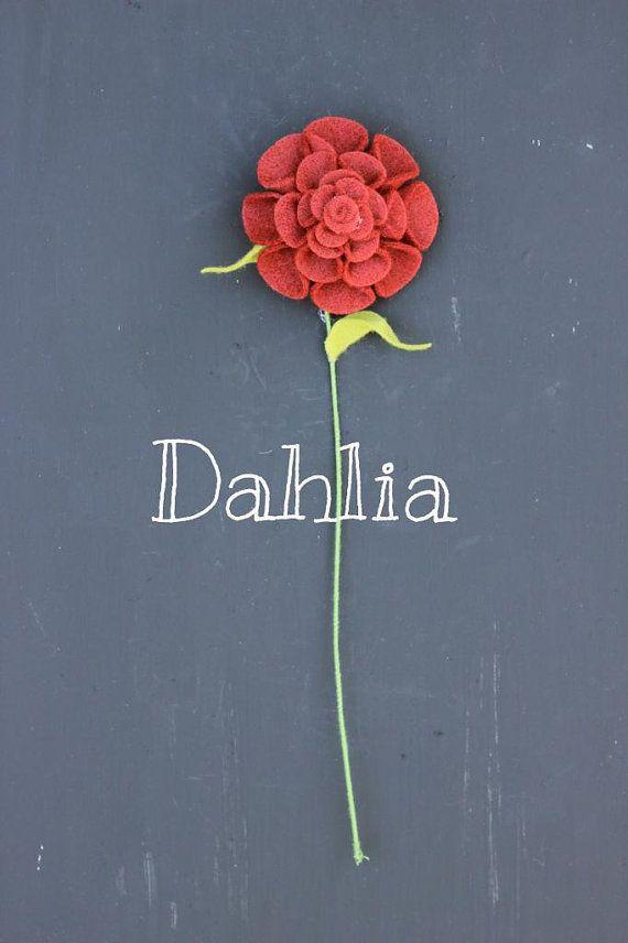 Felt Dahlia. Build Your Own Bouquet