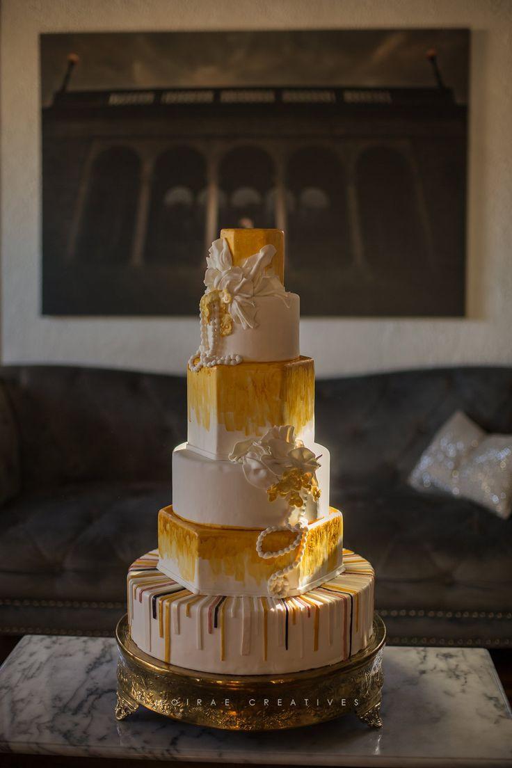 Art Deco Wedding Cake Photo by JasenAriasweddingscom