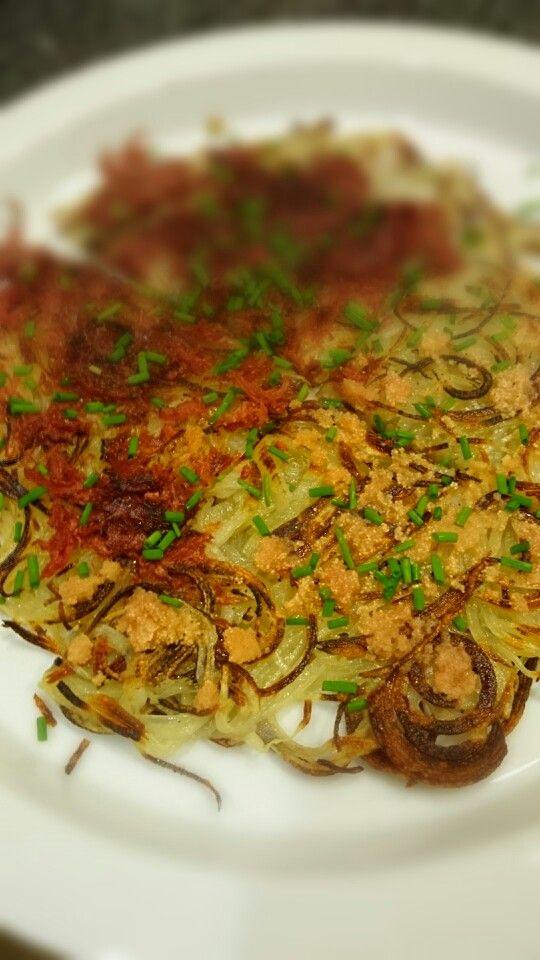 コンビーフと明太子の馬鈴薯のガレット