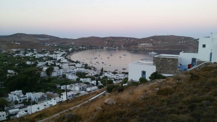 Livadi. Serifos island harbour