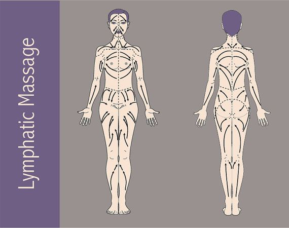 LAMINATED Lymphatic Massage Therapy Chart by EarthChiJewelry
