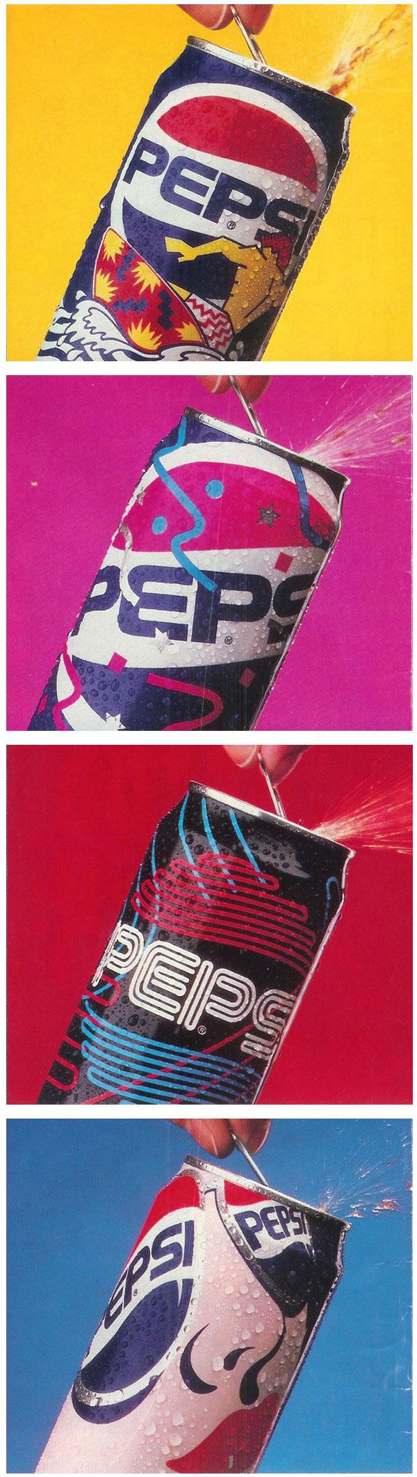 Pepsi Cool Cans which Pepsi marketed back in the 90s