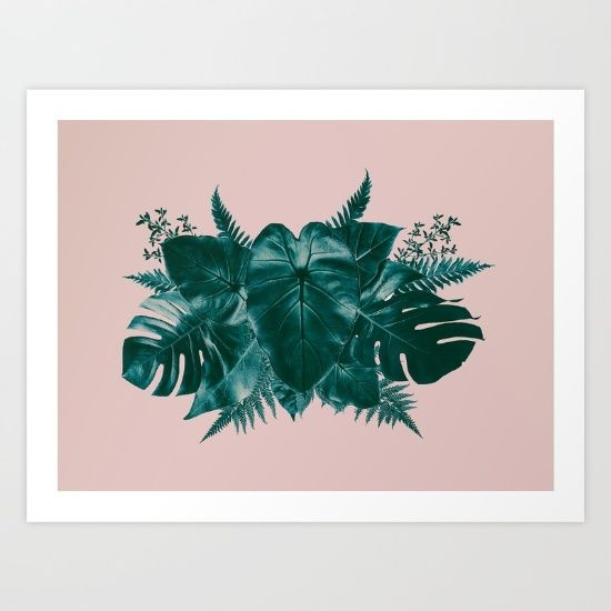 Tropical Leaf Love 2 Some lovely person just bought one of my prints. I so hope you love it xxx.