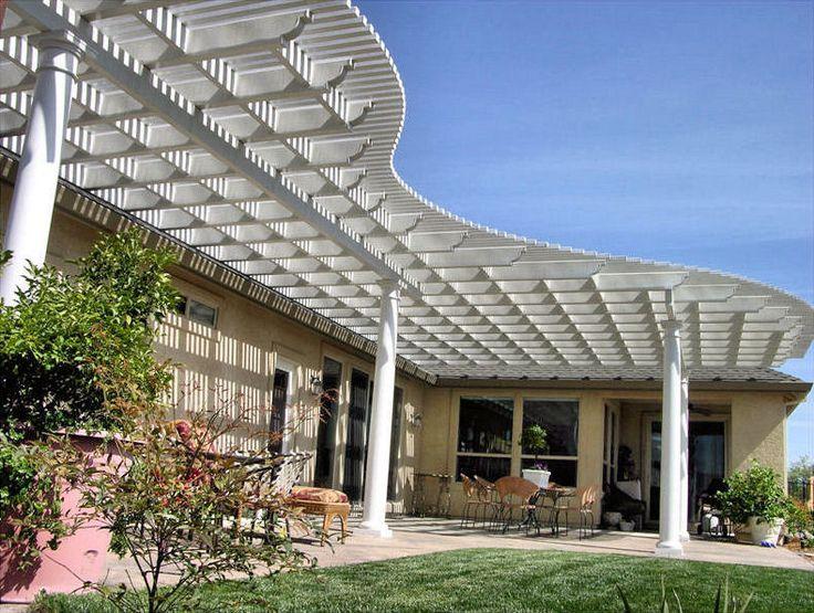 ultra lattice pergola corbel end cut rafters beams - Lattice Patio Ideas
