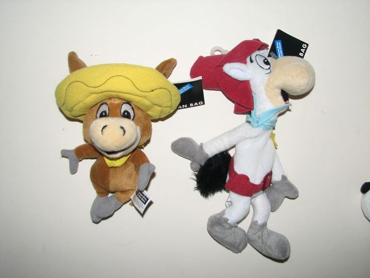 Warner Bros Studio Store Quick Draw McGraw Baba Looey Plush Bean Bag w Tag 1998  | eBay