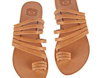 CRETE Women's Lace Up Sandals Black Leather by TheMerakiCompany