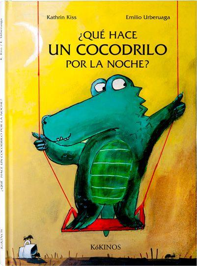 ¿Qué hace un  cocodrilo por la noche?  un tímido cocodrilo al que le encanta ir al parque a columpiarse por la noche, cuando nadie le ve.