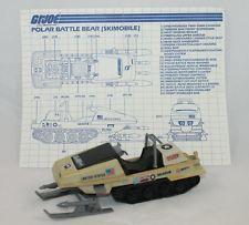 Vintage GI Joe - 1983 Polar Battle Bear Vehicle W/Blueprints