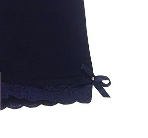 Undershorts, modesty shorts or playground shorts. Navy colored bloomer shorts.  Your little girls can wear them under her uniform.  They come in different colors.  Now on sale for $11.66 USD.