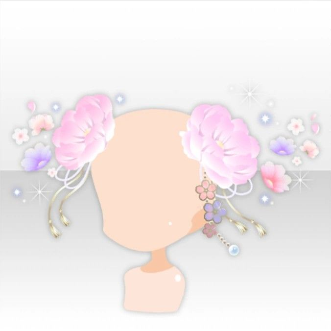 Beautiful Season Spring Flower Hair Accessory Ver A Pink In 2020 Anime Butterfly Flower Hair Accessories Anime Outfits