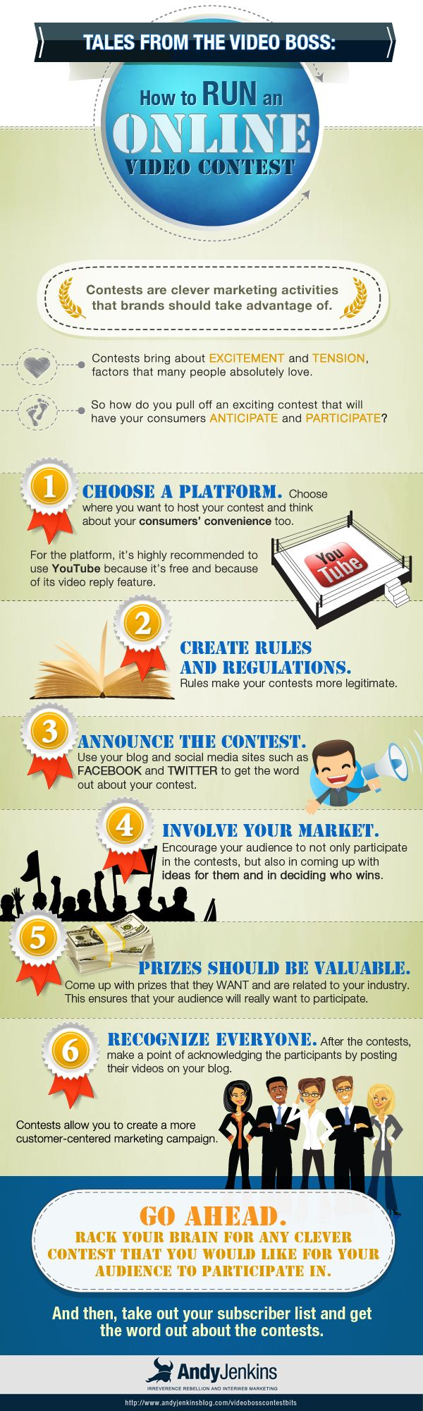 Video Boss Bits: Running an Online Video Contest (Infographic)