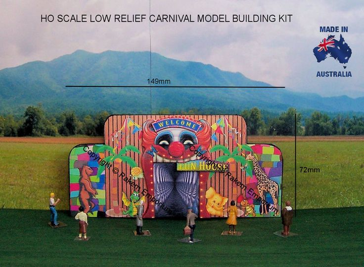 HO Scale Sideshow Low Relief Carnival Haunted House - SSFH