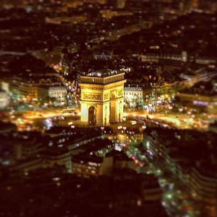 A brightly lit Arc De Triomphe steals the scene seen from the top of the Eiffel Tower in Paris, France. 📷: @flywithmeyyz .  .  .  .  .  .  #flightielife #openmyworld #travel #instatravel #travelgram #explore #exploremore #adventure #wanderlust #lifewelltravelled #bucketlist #neverstopexploring #wander #vacation #escape #travelmore #getoutside #nature #ilovetotravel #travelfrance #explorefrance #travelgram