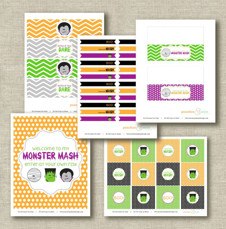 Free not too scary Halloween party printables #halloween #party #printables #free: Free Halloween Parties Prints, Like Design, Parties Printable, Party Printables, Halloween Printable, Scary Halloween Parties, Free Halloween Party'S Prints, Free Printable, Monsters Mashed