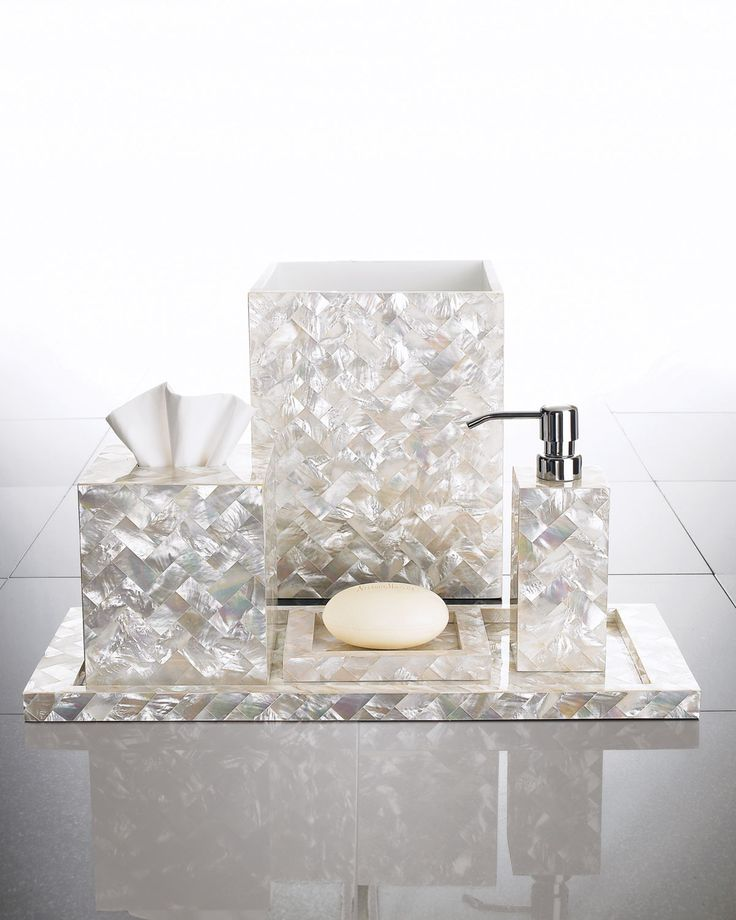 Decor/Accessories   Herringbone Vanity Accessories   Neiman Marcus   Mother  Of Pearl Vanity Accessories, Mother Of Pearl Bath Accessories, M.