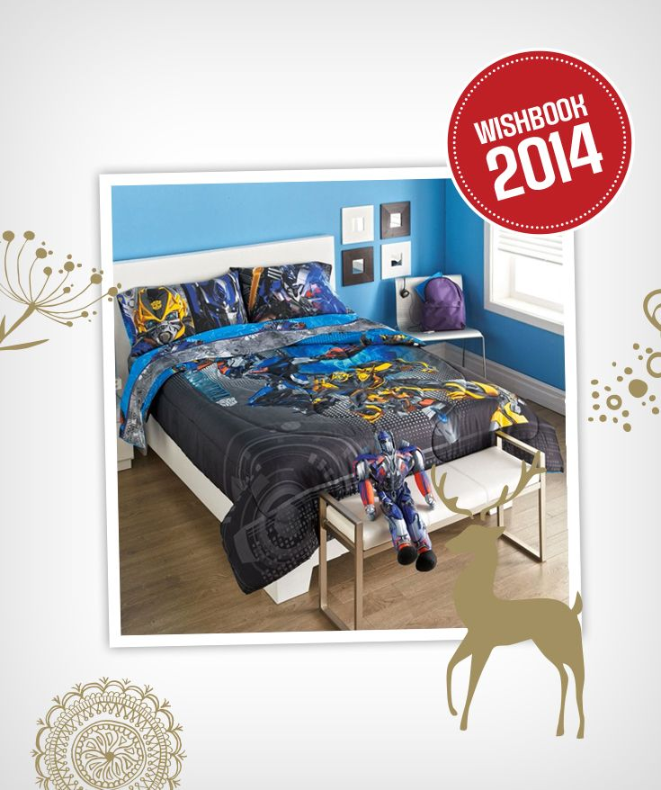 Is your boy a fan of Transformers? Brighten up his room with this comforter collection
