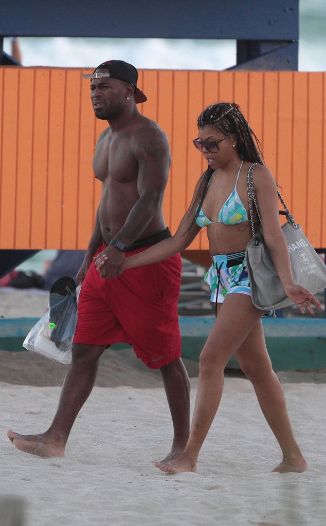 Taraji P. Henson Flaunts Her Bikini Body While Holding Hands With Football Player Kelvin Hayden  Taraji P. Henson