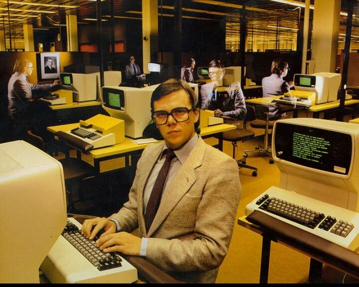 Vintage Geek in Golden Age of Computers. I love this shot, it's just so Kraftwerk.