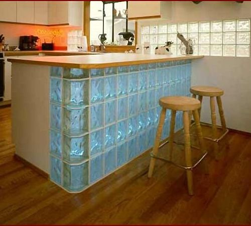 Применение стеклоблоков в интерьере | Строительный портал