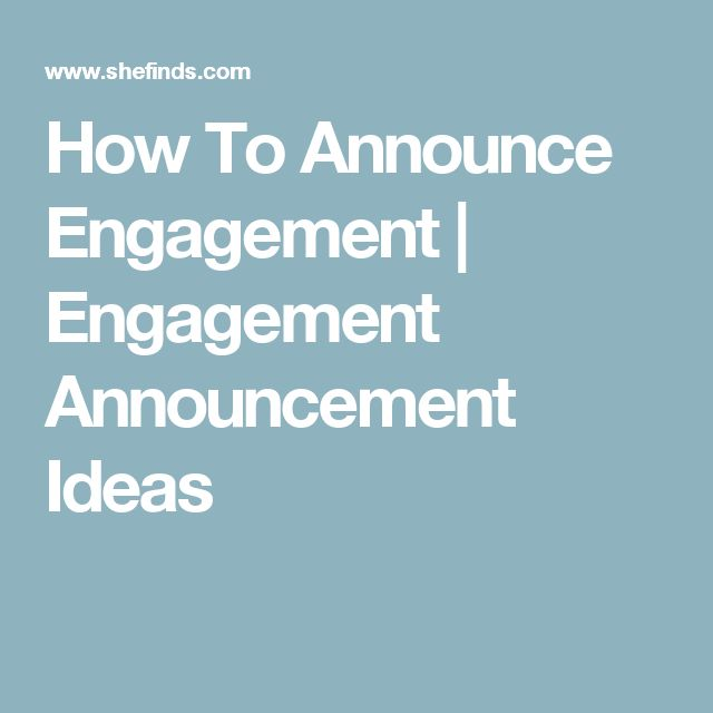 25+ Best Ideas About Creative Engagement Announcement On