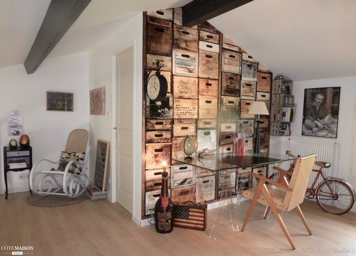 les 250 meilleures images du tableau papier peint bureau sur pinterest appartement bureau. Black Bedroom Furniture Sets. Home Design Ideas