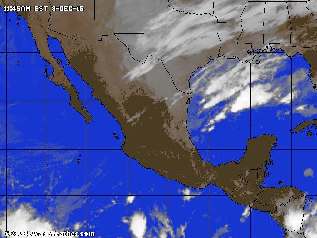 Mapa satelital animado de la Nubosidad en México por AccuWeather