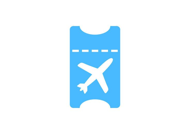 Flight Ticket Free Vector Icon