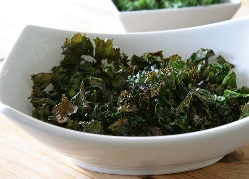 3 cups kale tossed with olive oil and apple cider vinegar, salt and pepper. Cook for 6 min at 400, toss then reduce heat to 300 for 6 min (or less if your oven is hot) DELICIOUS