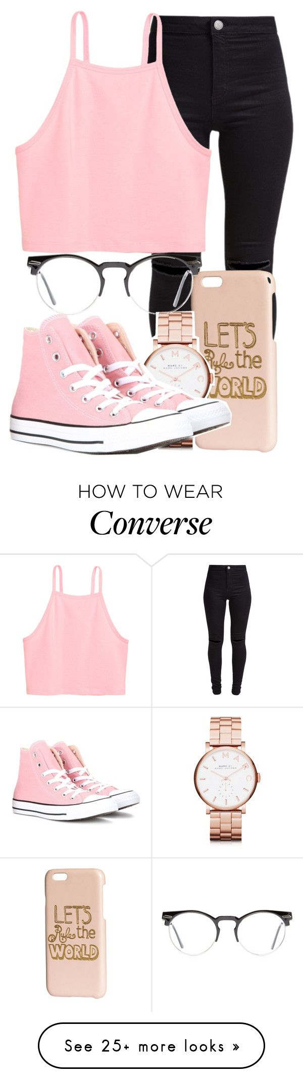 """Legend"" by mallorimae on Polyvore featuring New Look, H&M, Marc by Marc Jacobs, Converse and Spitfire"