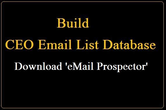 ceo email database build ceo email addresses using this email list