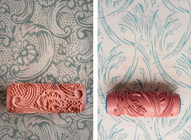 La Reines Blog: Toller Tipp: Raufaser Tapete Streichen Durch Farbwalze Mit  Muster