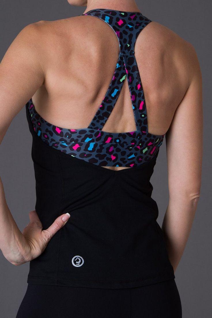 Raving Leopard Print Singlet with internal bra! Stunning!