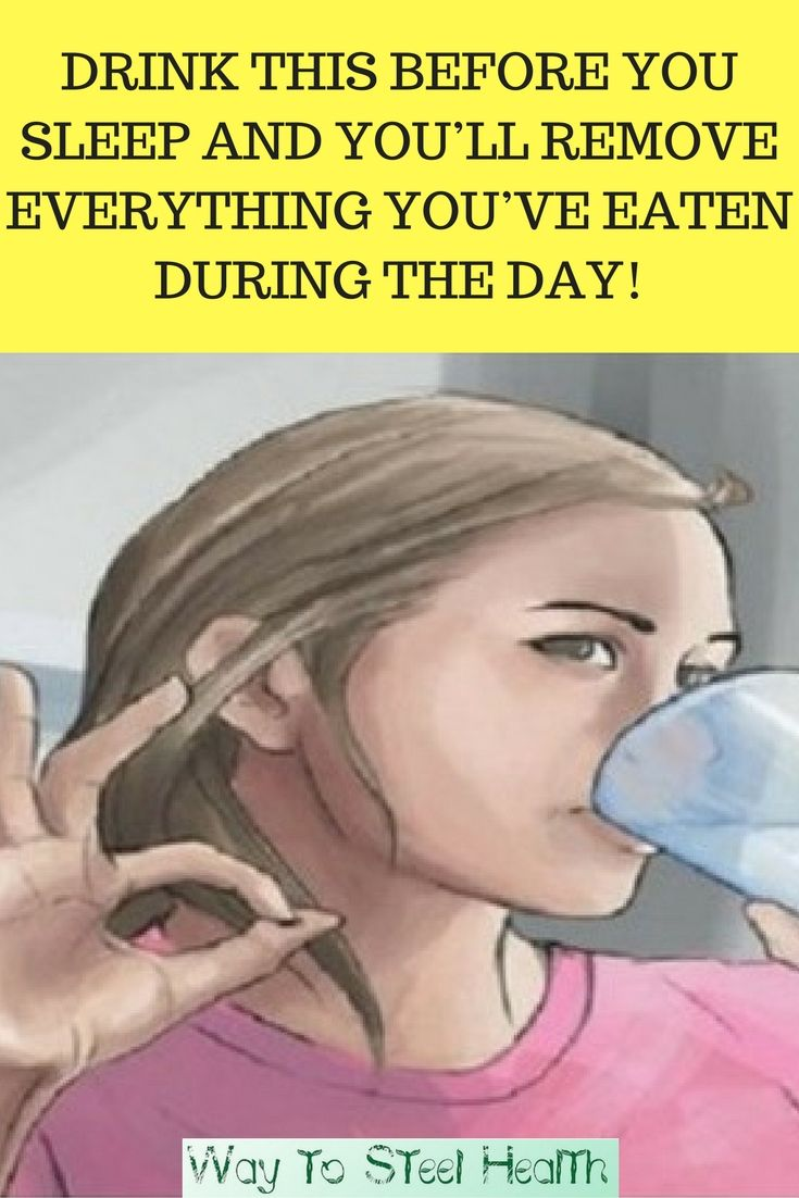 Drink this Before you Sleep and you'll Remove Everything you've Eaten During the Day!