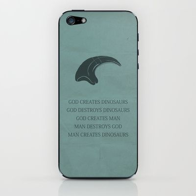 Jurassic Park iPhone & iPod Skin by OurbrokenHouse - $15.00