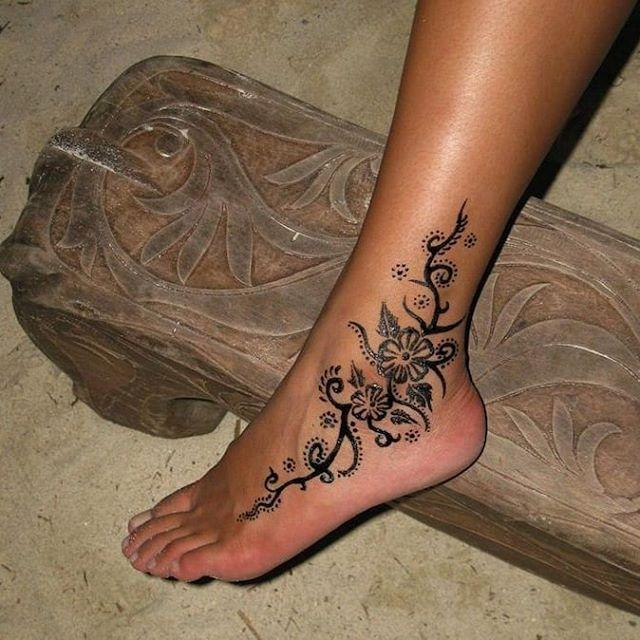 Tatuajes Pierna Mujer Pie