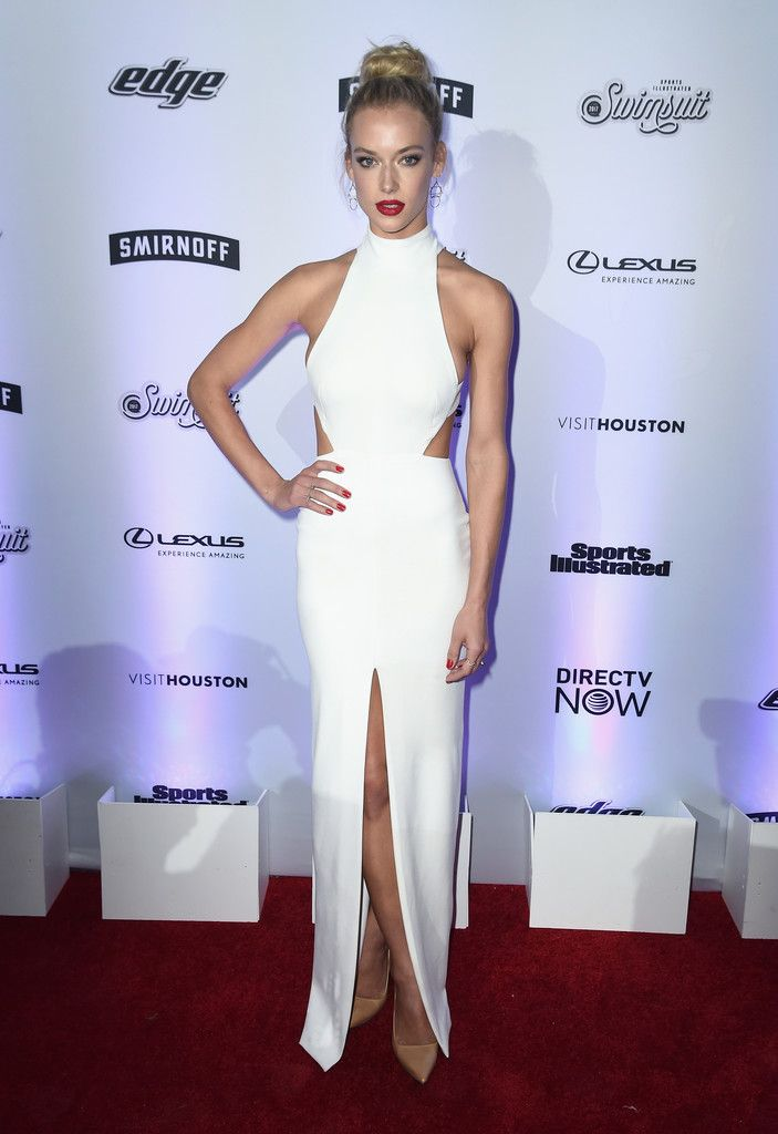 Hannah Ferguson attends Sports Illustrated Swimsuit 2017 NYC launch event at Center415 Event Space on February 16, 2017 in New York City.