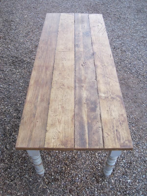 Plank Top Scaffold Board Top Reclaimed Pine Farmhouse