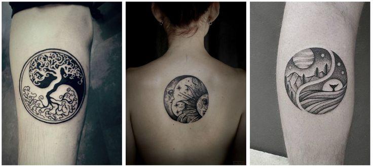 tatuajes yin yang brazo