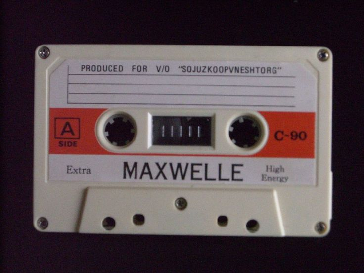 MAXWELLE C 90 VINTAGE AUDIO CASSETTE TAPE ( USED ) VERY RARE !  #MAXWELLE