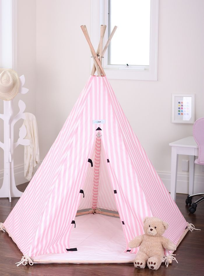 new kids childrens play house indoor pink tent teepee. Black Bedroom Furniture Sets. Home Design Ideas