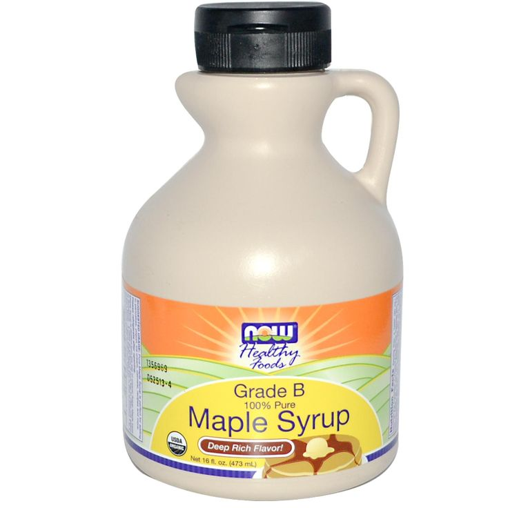 Now Foods, Healthy Foods, Maple Syrup, Grade B, Deep Rich Flavor, 16 fl oz (473 ml) - iHerb.com