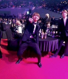 Never change, Taehyung. Live and love life always, like you do now. And look at his best friend cracking up at him in the background. LOVE IT.